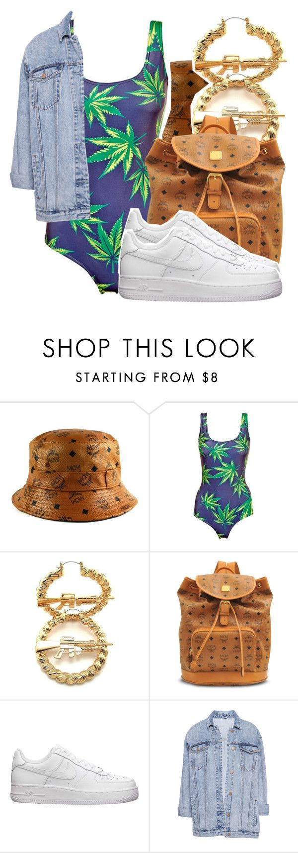 """""""1121"""" by ashley-mundoe ❤ liked on Polyvore featuring MCM, RIFLE, NIKE and Pull&Bear"""