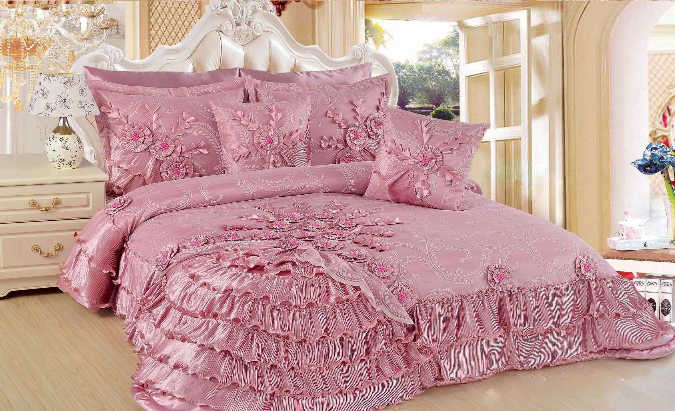 DaDa Bedding BM1227 5 Piece Blooming forter Set Queen Size