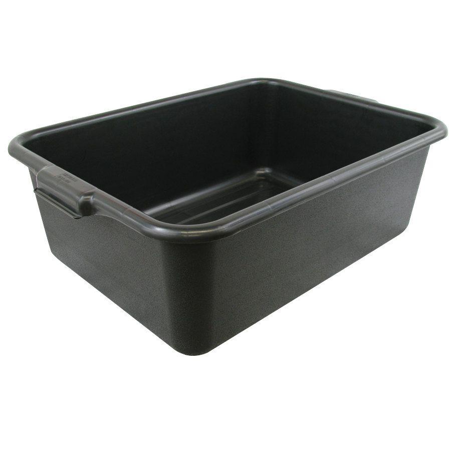 Choice 20 X 15 X 7 Black Polyethylene Bus Tub Bus Box Bus Tubs Tub Black Tub