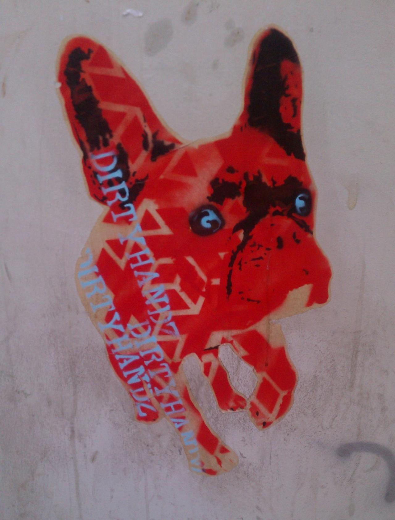 Frenchie graffiti at Santa Cruz de Tenerife