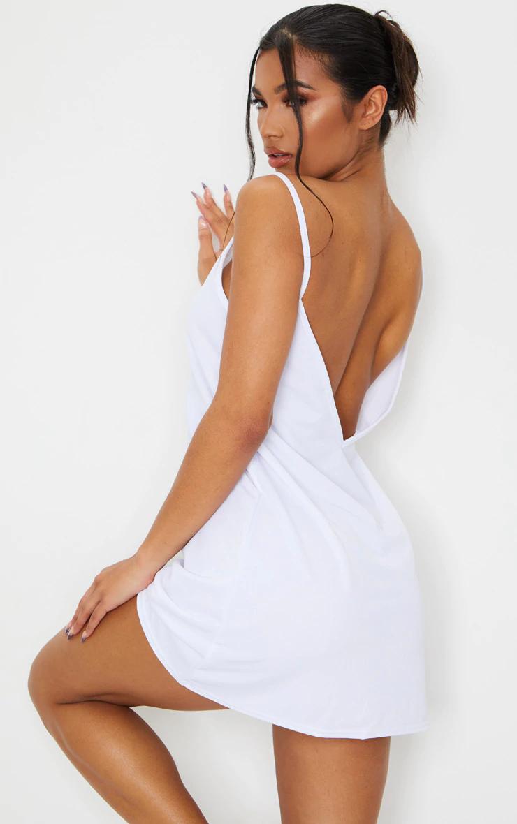 White Strappy Detail Backless Cami Dress Cami Dress Bandeau Maxi Dress Backless [ 1180 x 740 Pixel ]