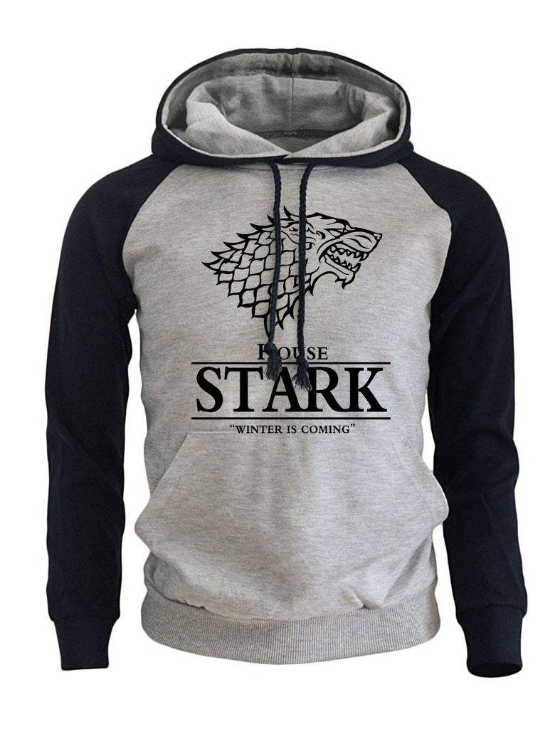 Game Of Thrones House Stark Hoodie Hoodies Men Game Of Thrones Sweatshirt Mens Sweatshirts Hoodie