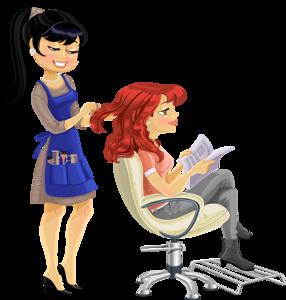 Hairdresser ilustraciya for Uniform spa vector