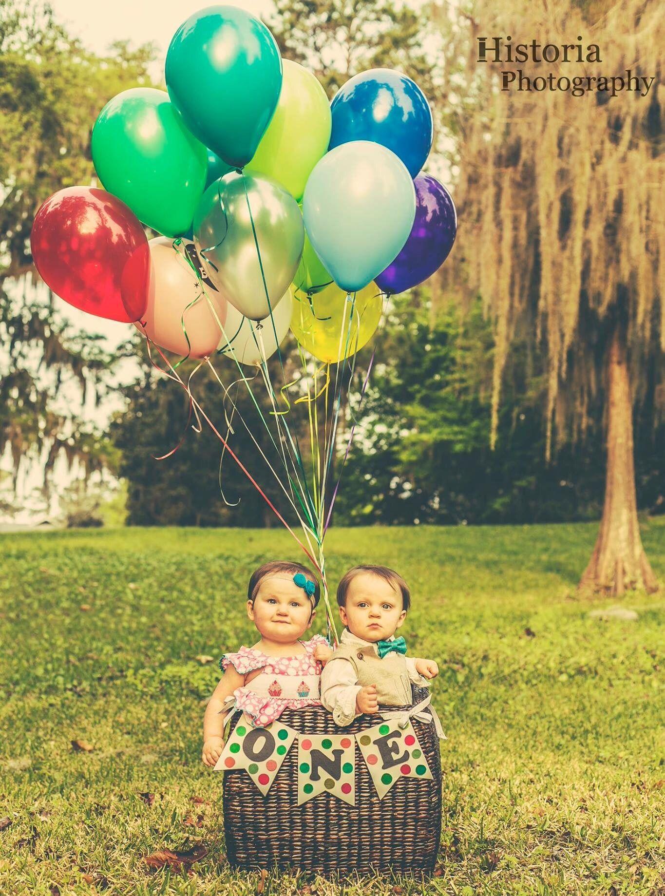 Boy Girl Twins First Birthday