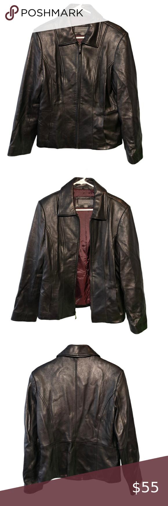 Liz Claiborne Black Leather Jacket Size Medium In 2021 Vintage Suede Jacket Black Leather Jacket Vintage Leather Jacket