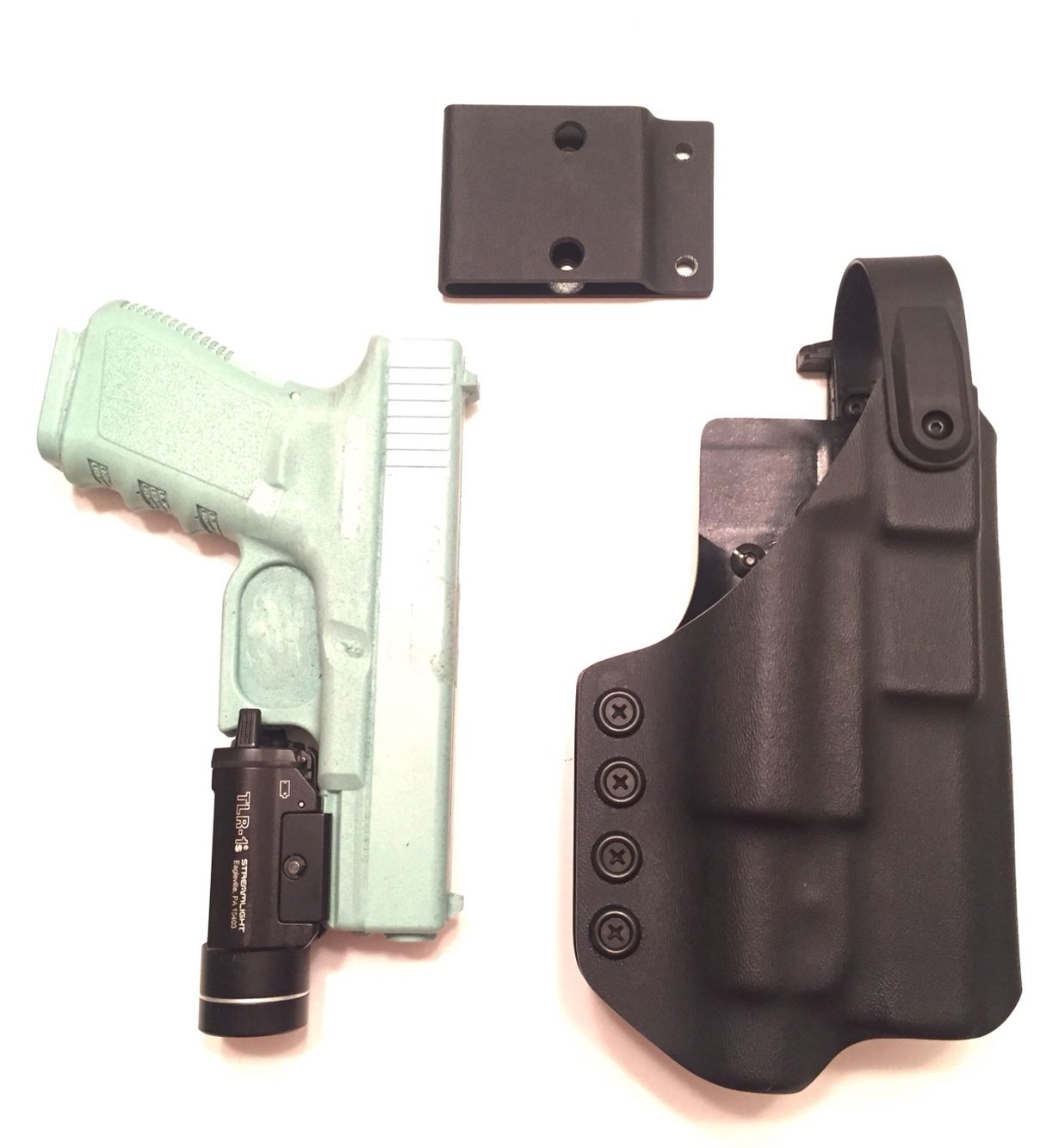 Level 2 retention holster for Glock 19/17/22 with