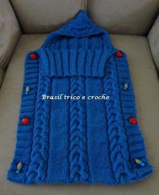 8665820d8b7b Brasil Tricô & Crochê - Handmade: Porta bebê - saco de tricô | I do ...