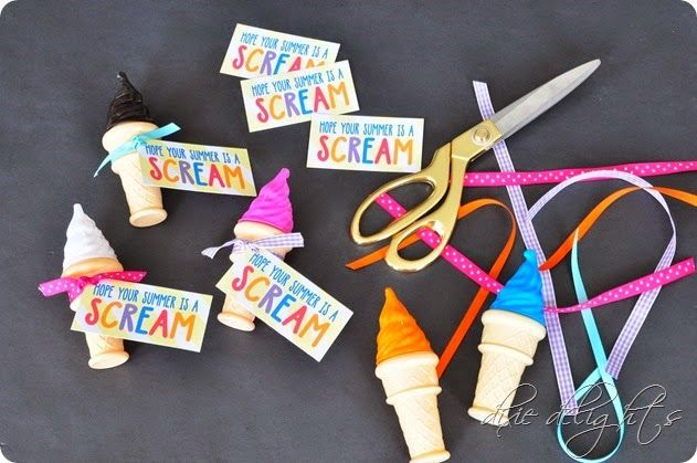 Hope Your Summer is a SCREAM! {Free Printable}