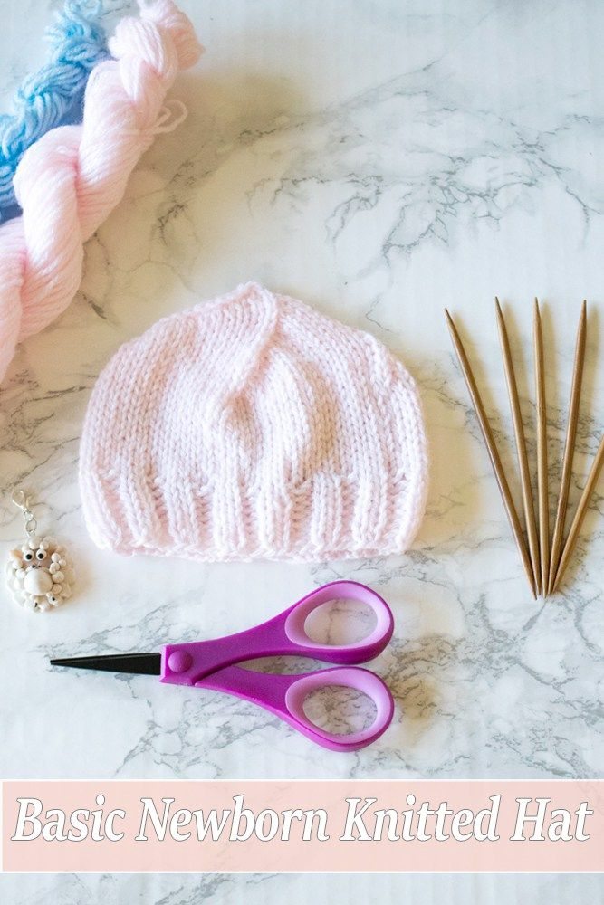 FREE Basic Newborn Knitted Hat Pattern (0 to 3 months old | Tejido