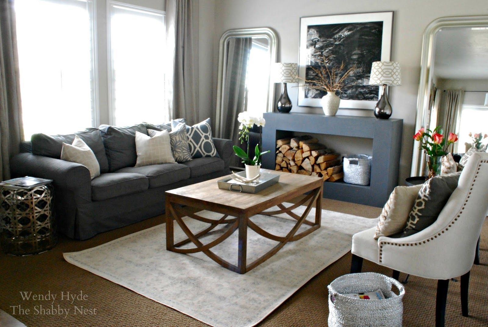 decorate living room with no fireplace paint ideas for chair rail focal point the shabby nest problem