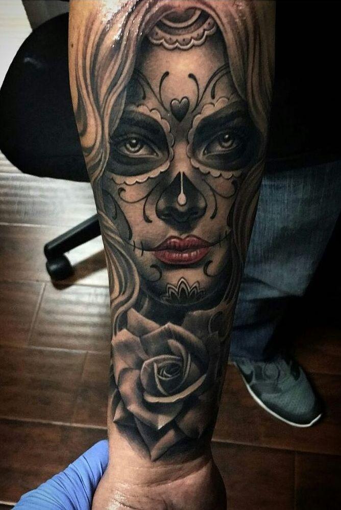Tatuaje Catrina Antebrazo Frasesparatatuajes Club