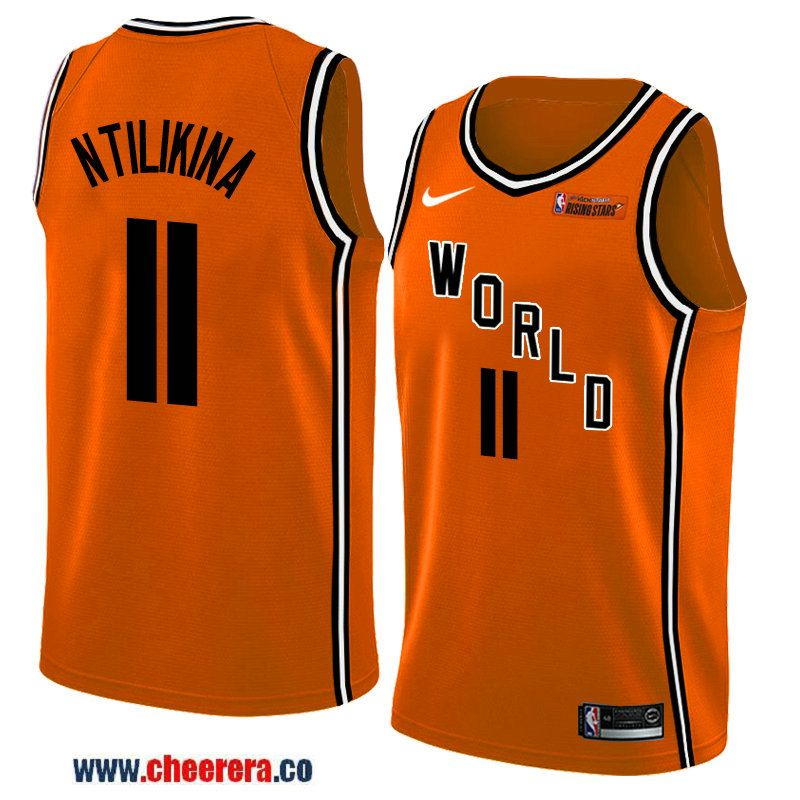 121ea21bb44 2018 nba all-star rising stars challenge men s orange new york knicks  11 frank  ntilikina jersey-team world