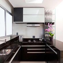 Cozinha Planejada preto e branco