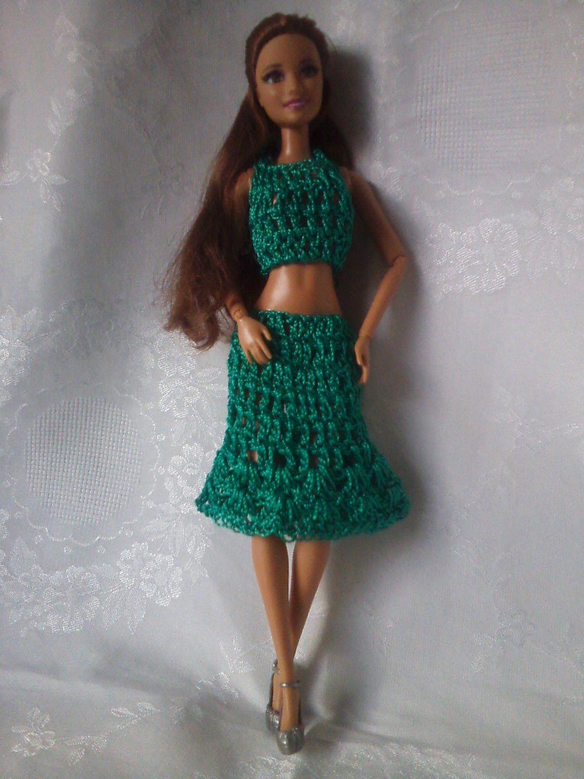 ROUPAS DA BARBIE DE CROCHÊ   vestidos barby   Pinterest   Crochet ...
