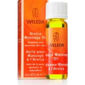 WELEDA: Body Oil ARNICA $3.75 – $23.00  Tired, aching muscles get immediate relief with this nourishing oil. It's a soothing natural beauty treatment that deeply nourishes your skin as your body and mind relax. When used in combination with massage, organic and wild-crafted arnica flower extract provides a soothing layer of warmth that unwinds your taxed and tight muscles to relieve stress. Organic sunflower seed and olive oils are easily tolerated and absorbed by your skin, restoring…