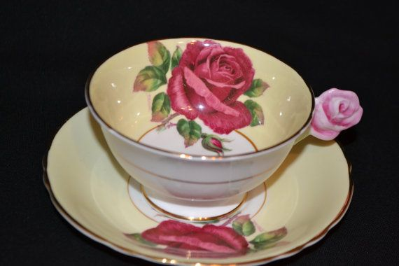 Paragon RARE Signed Flower handle Teacup and by TheTeacupAttic, $279.99