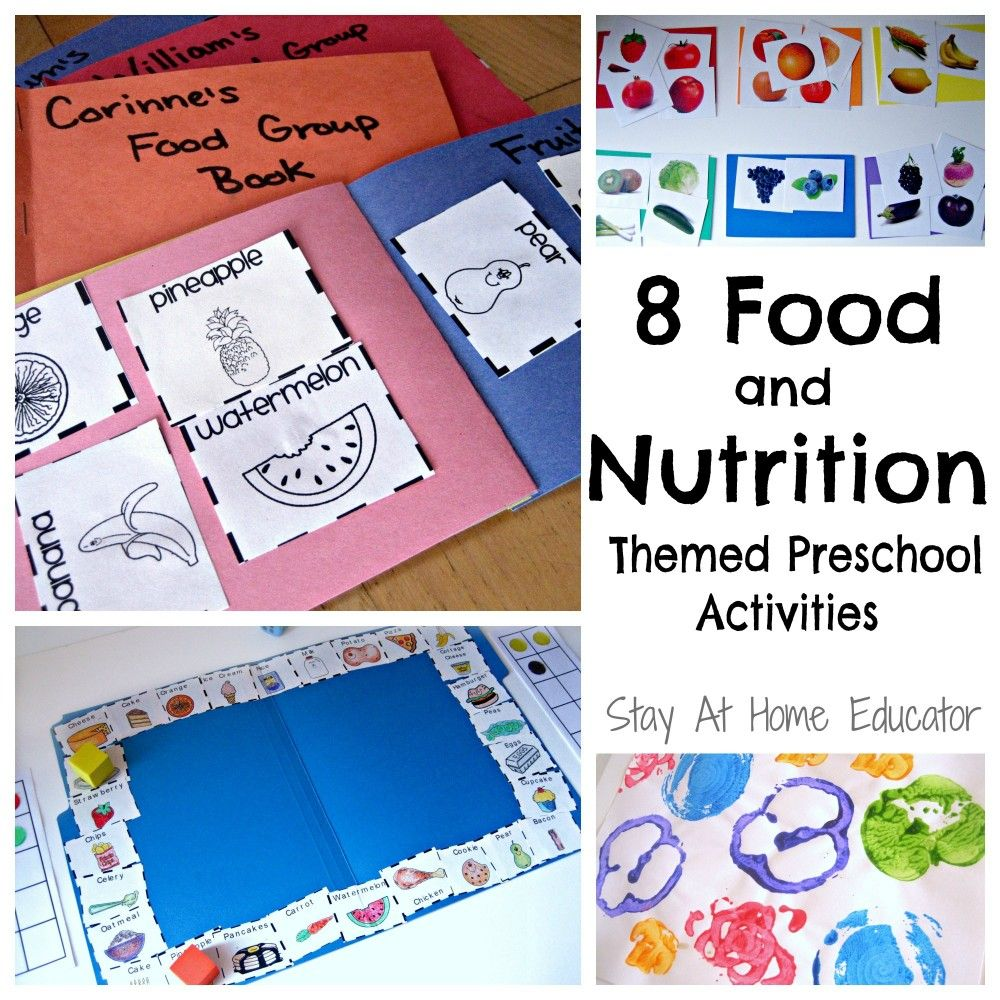 8 Food and Nutrition Themes Preschool Activities Stay At