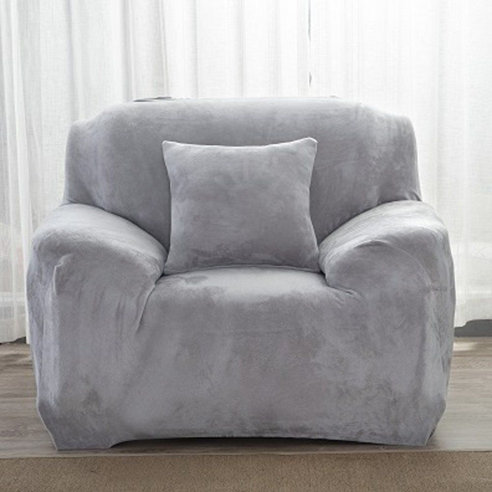Dicke Sofaüberzüge 1 2 3 4 Sitz Überwurf Sofa Schutzüberzug Aus Samt Einfache Passform Stretch Materia In 2020 Fabric Sofa Cover Couch Covers Slipcovers Plush Sofa