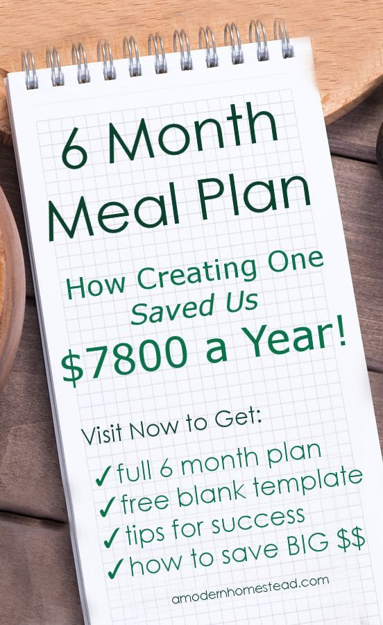 Did You Know We Meal Plan For  Months At A Time And Buy What We