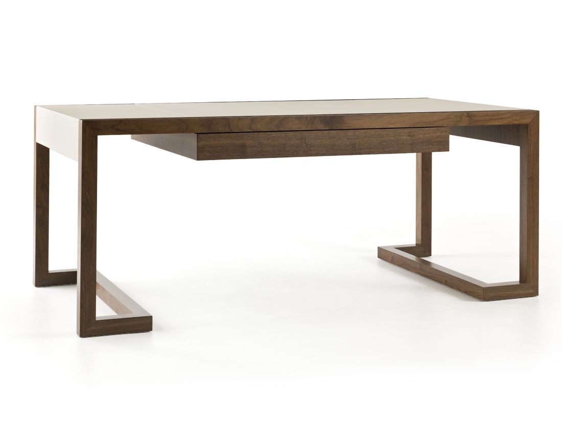 Bureau Plat Desk 1 Mortice And Tenon Furniture Table  # Table Tele En Fer Forge