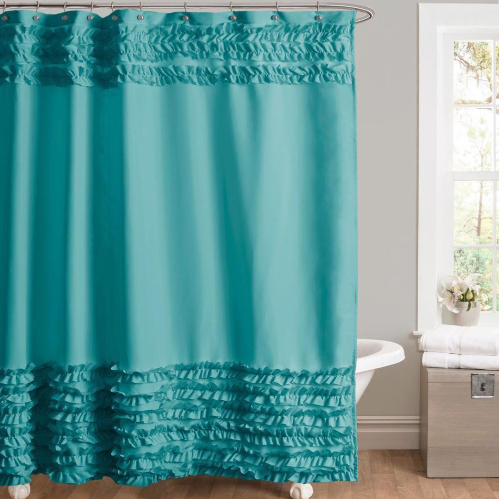 Lush Decor Skye Turquoise Shower Curtain | Overstock™ Shopping   Great  Deals On Lush Decor