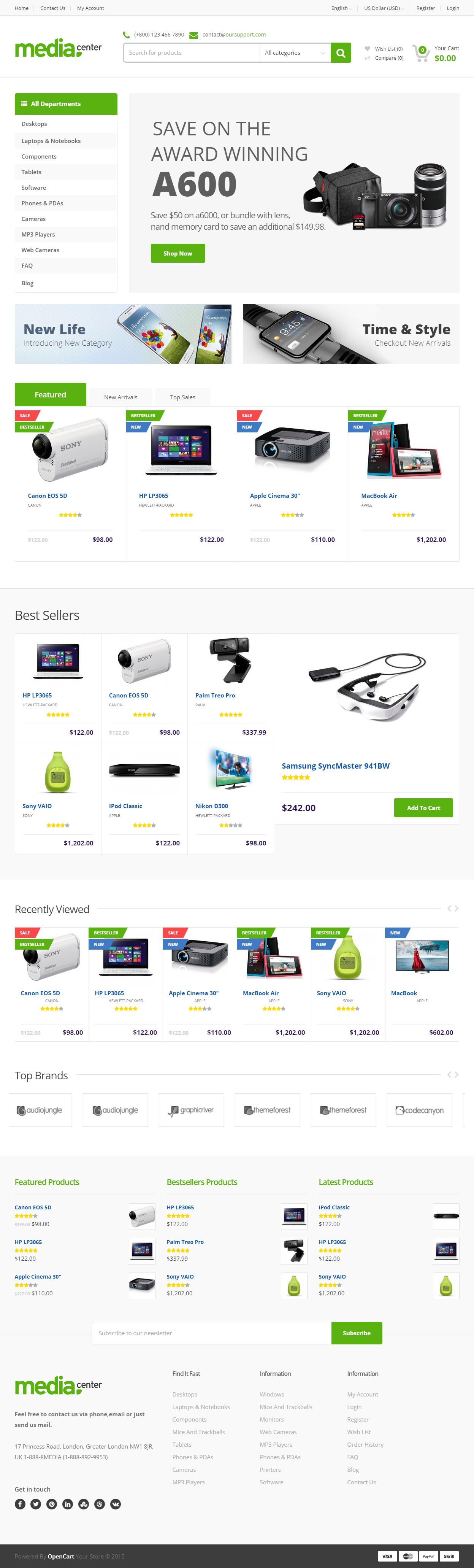 MediaCenter - Premium Responsive Opencart Template