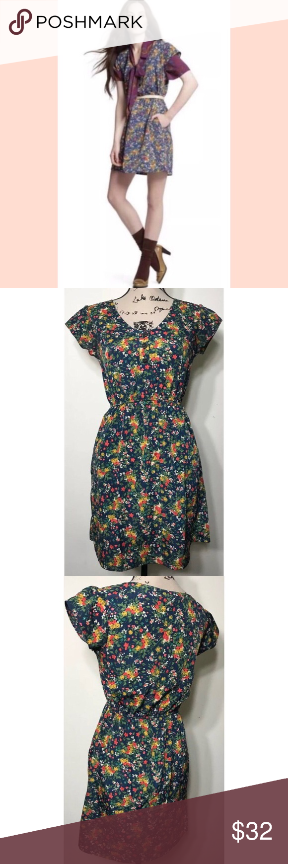 Tucker For Target Blue Floral Summer Dress Small Details Blue Mini Dress With Cute Flowers By Target In Collaboration With Floral Dress Summer Summer Dresses [ 1740 x 580 Pixel ]