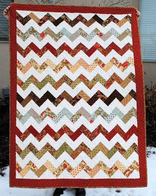 Hideaway Girl Finished Zig Zag Quilt Quilts Jelly Roll Quilt