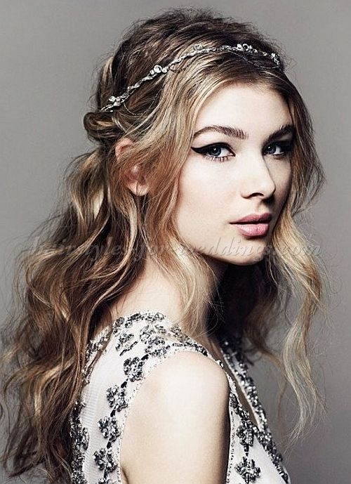 wedding hairstyles - hairstyle with headband