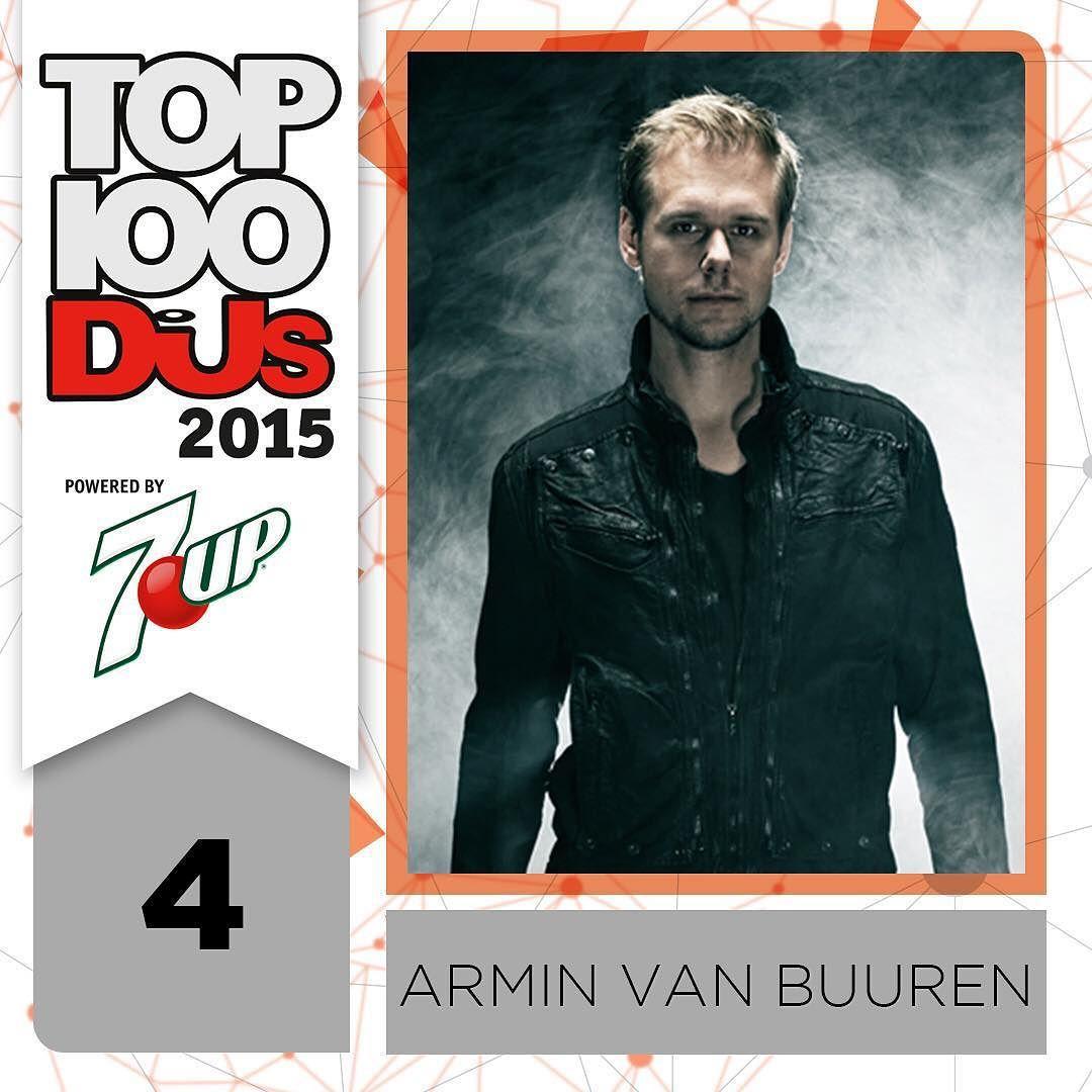 Once again he highest trance DJ the legend @arminvanbuurenofficial takes the No.4 spot #Top100DJs @7up by djmagofficial