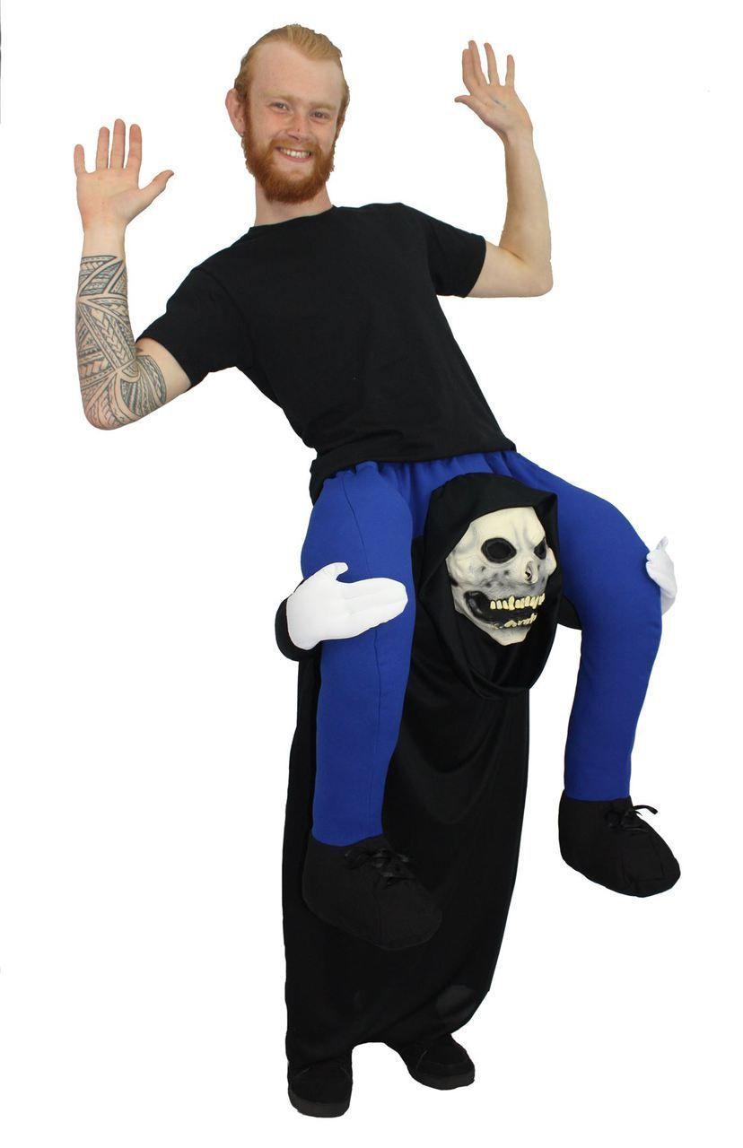 Carry Me Fancy Dress - Adults Grim Reaper Funny Piggyback ...