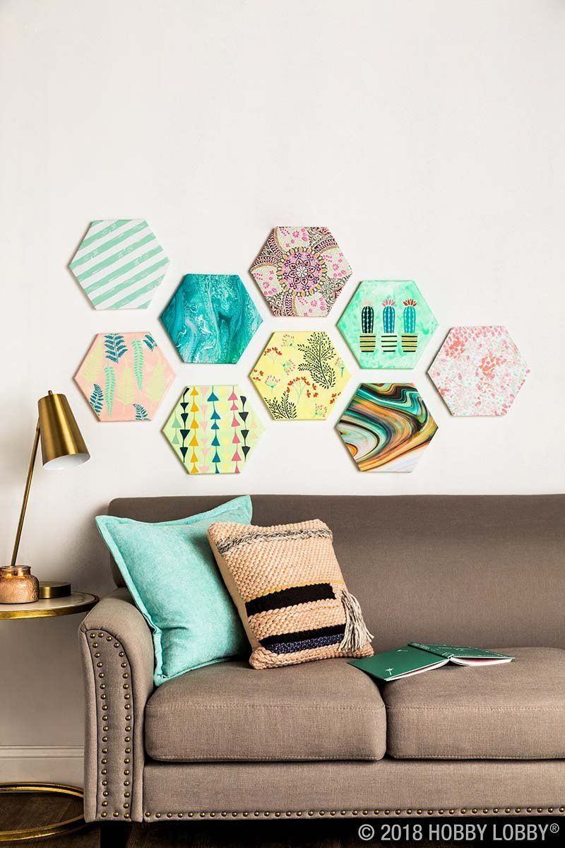 Diy A Customizable Gallery Wall With Shaped Canvas With Images