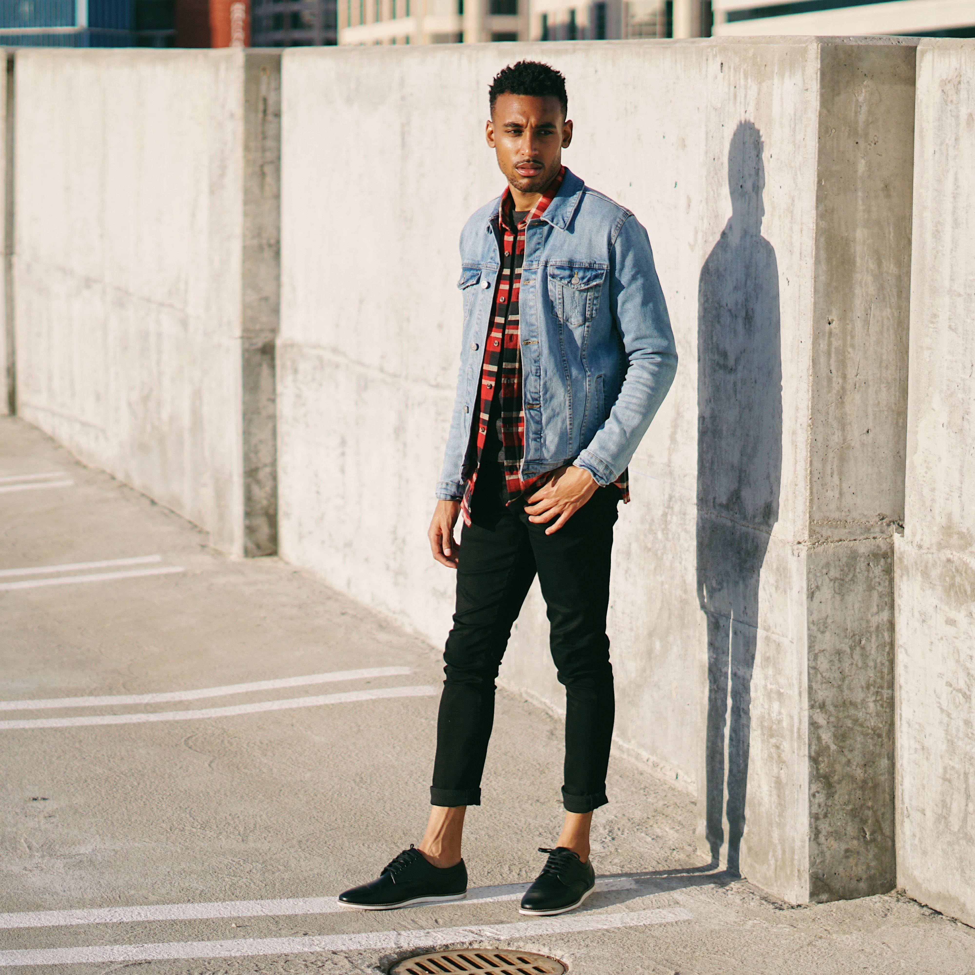 ede6bc63fb62 Denim Jacket Outfit Idea Mens Fashion   Style Streetstyle ASOS