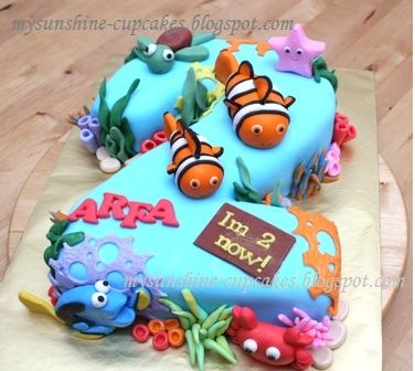 4tier Wedding Cake With Images Dory Birthday Party Finding