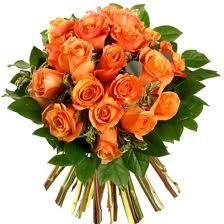 Bello Arreglo Floral De Rosas Color Salmon Flores Ramo