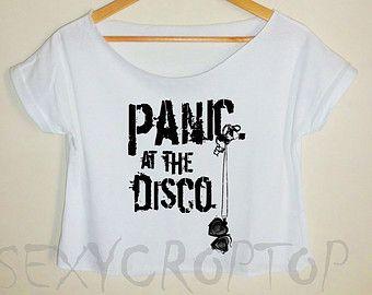 64e63a39ff1cf7 panic at the disco crop top panic at the disco crop tee panic at the disco  shirt panic at the disco tshirt women tank top logo white