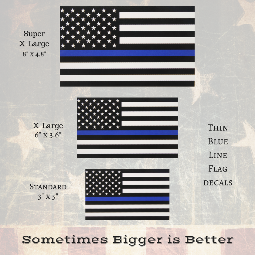 Thin Blue Line Decals Now Available In Bigger Sizes More Visible