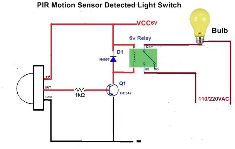 Indoor Motion Sensor Light Switch Wiring Diagram
