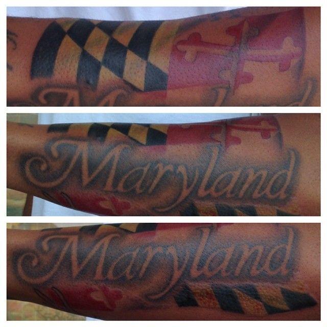 Maryland State Flag Tattoo Maryland Tattoo Flag Tattoo Bamboo Tattoo