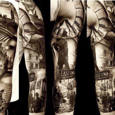 Matteo Pasqualin Sleeve Tattoos Grey Tattoo Black And Grey Tattoos