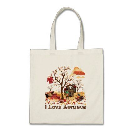 I Love Autumn - Fall Scenery Tote Bag | Zazzle.com #fallscenery