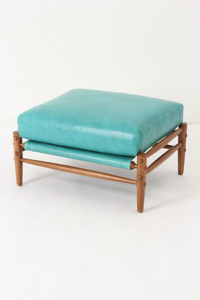 Rhys Ottoman, Carribean Blue #anthropologie #anthrofave | Items for ...