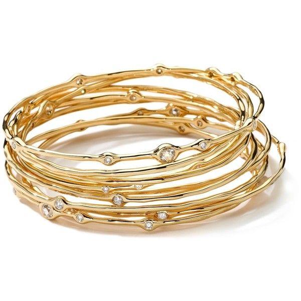 Ippolita Stardust 18k Gold Cuff Bracelet with Diamonds DPrIF2k