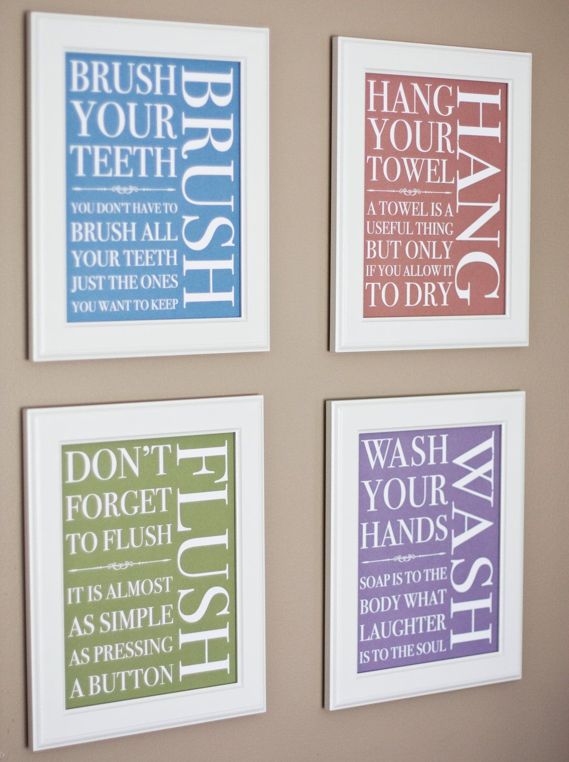 Print Your Own Bathroom Signs Traditional 14 00 Via Etsy With Images Home Crafts Bathroom Signs Home Diy