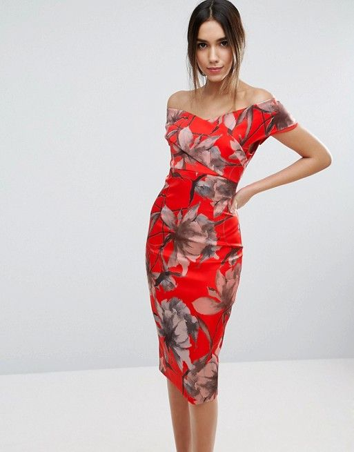 Bardot Midi Pencil Dress   Dresses   Pinterest