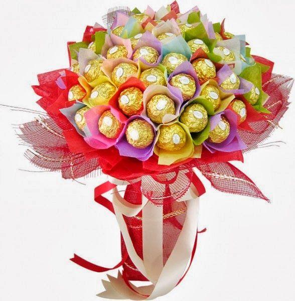 Kafijas krūze: Saldais konfekšu pušķis (candy bouquet) | Arreglos ...