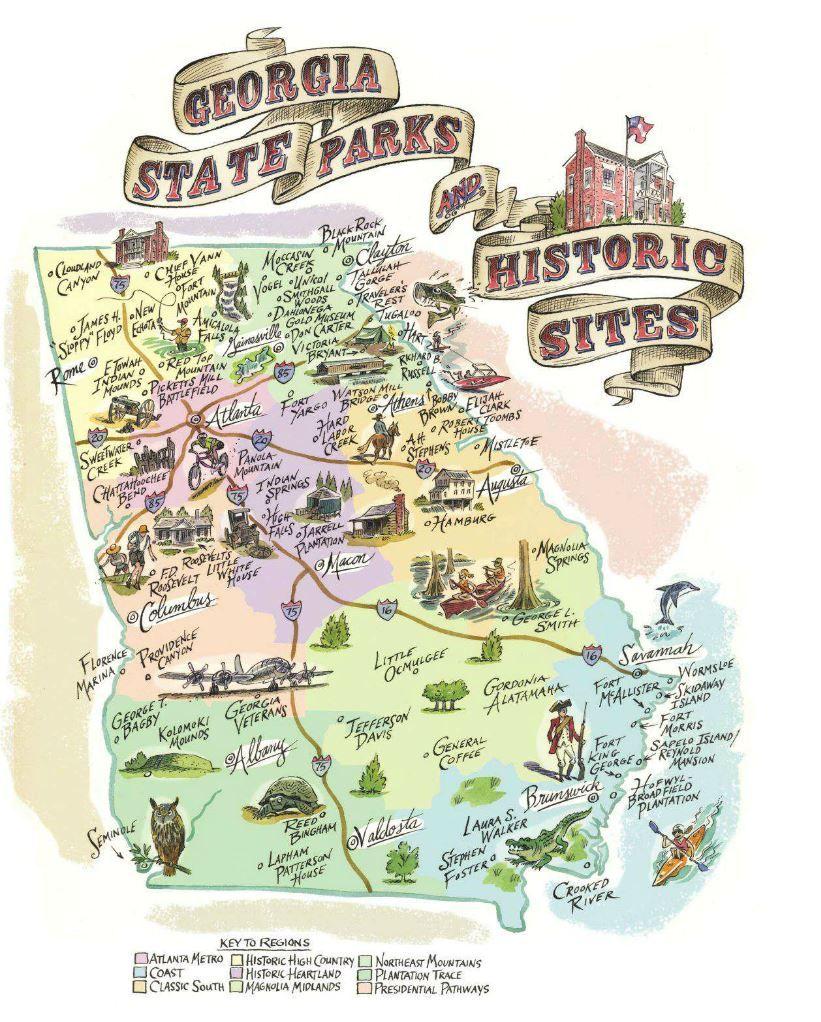 National Parks Of Georgia List Highlander Travel Georgia State - Florida map state parks
