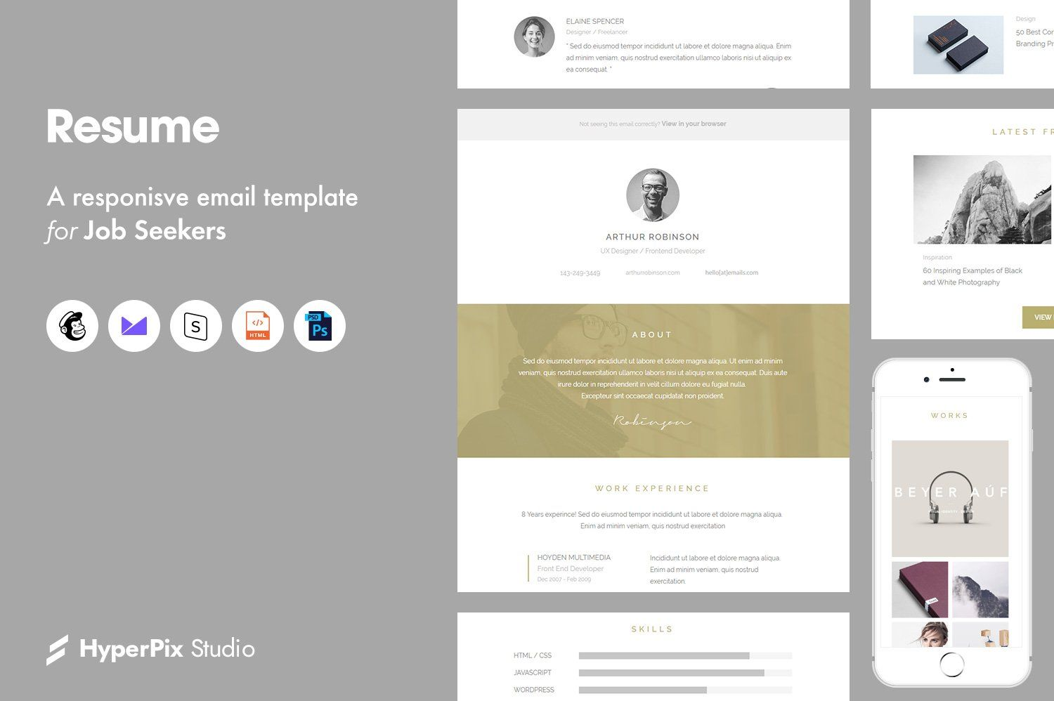 Resume Email Template Ad , Sponsored, ReplaceUnlimited