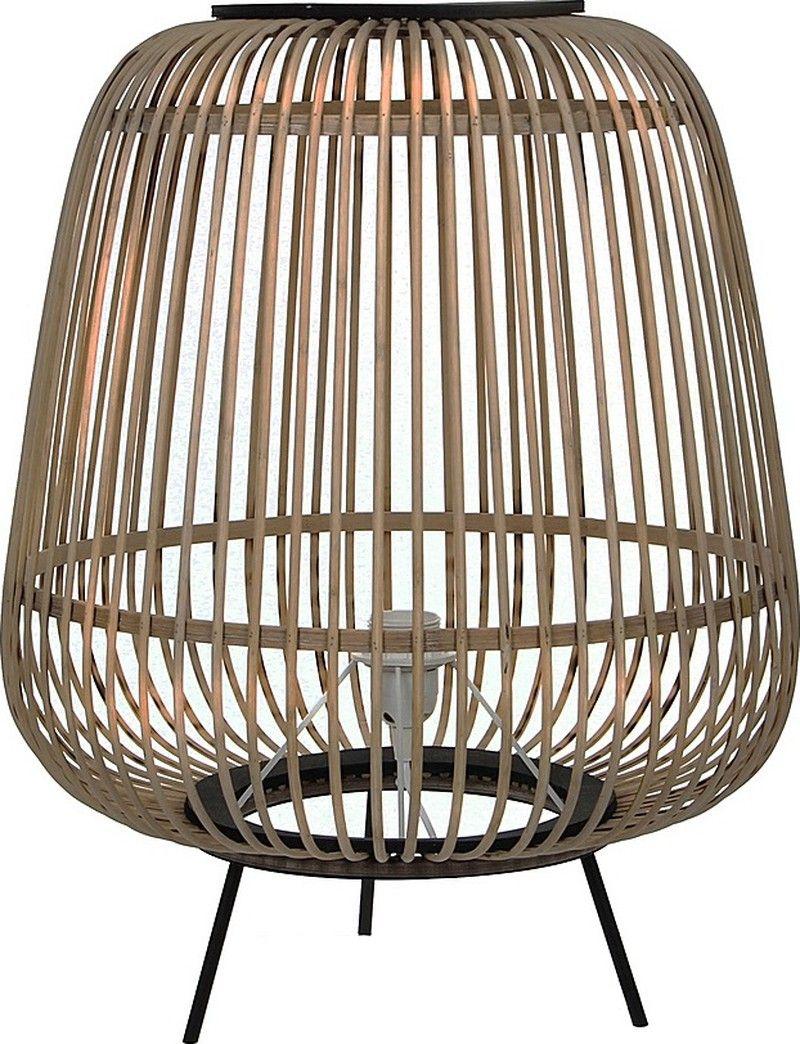 Mica Decorations Nimes Tafellamp Bamboe Lichtbruin 53 x