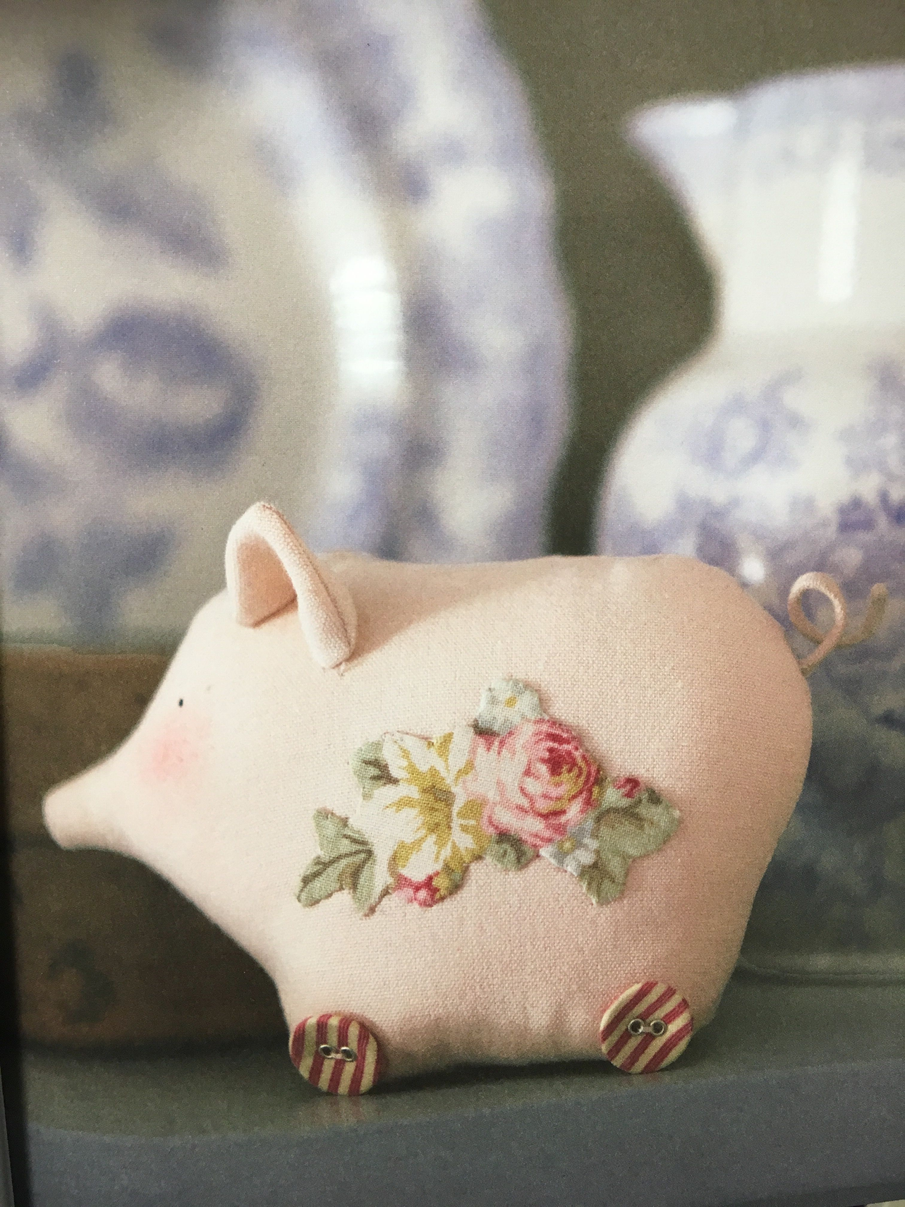 """Soft pink piggy idea from """"Homemade & Happy"""" book by Tone Finnanger"""